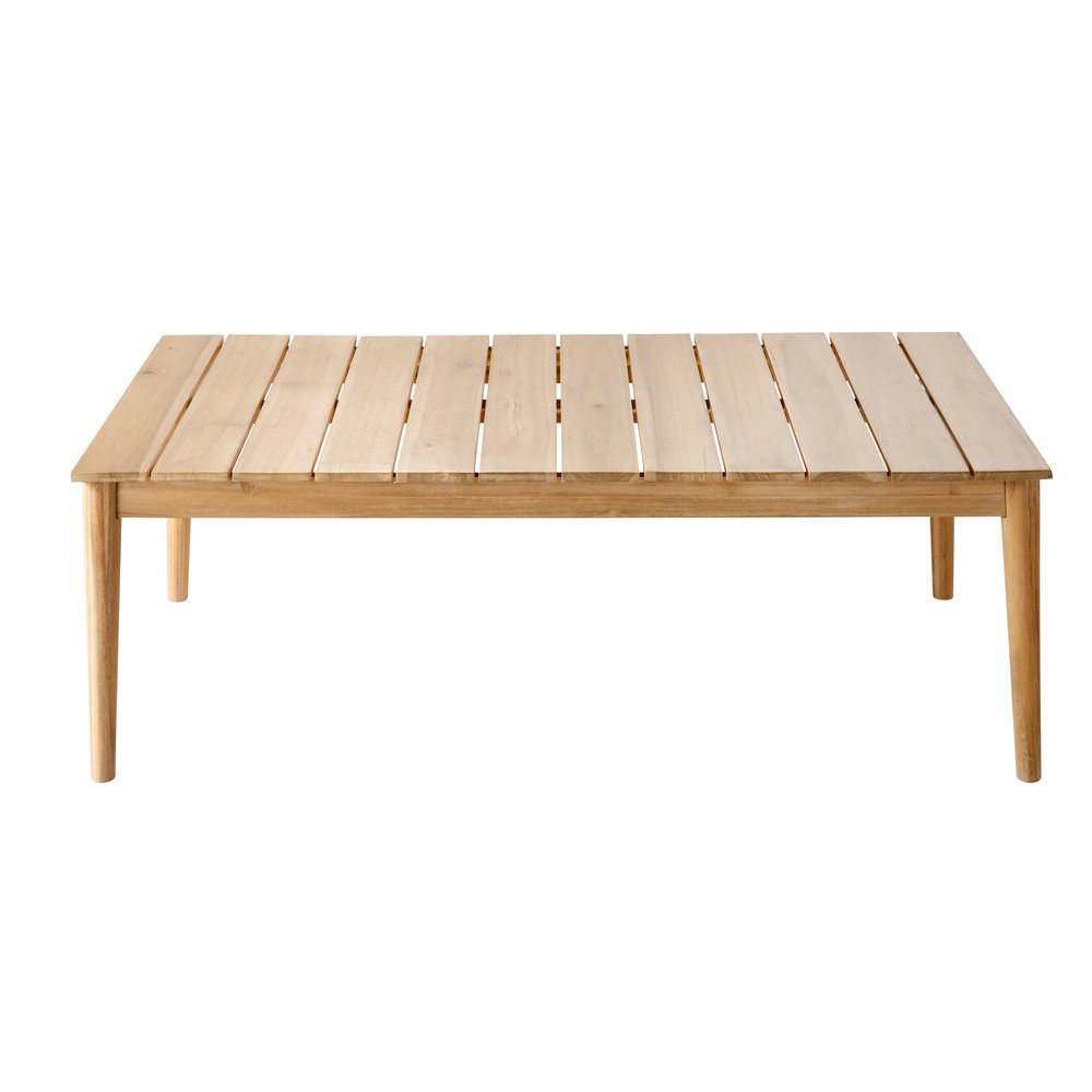 Salon jardin table for Table basse acacia massif