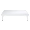 Table basse de jardin en aluminium blanc - West Lake