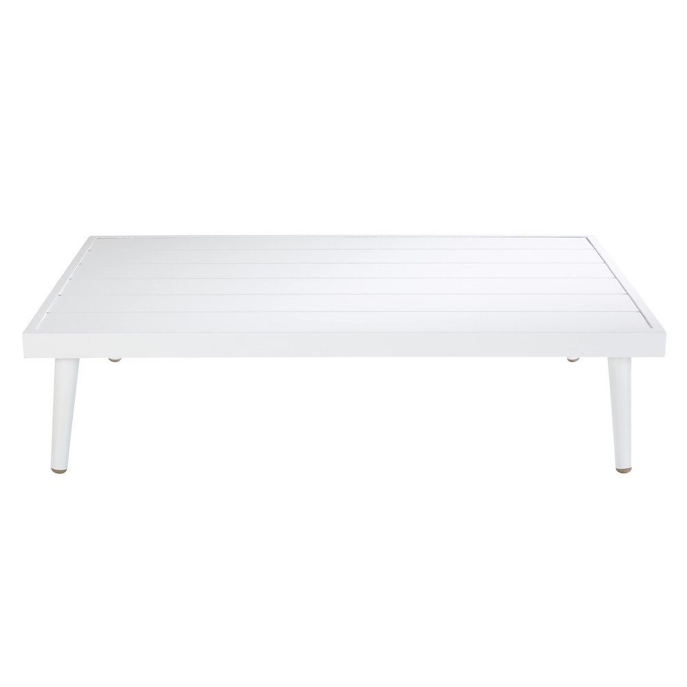 Table basse de jardin en aluminium blanc West Lake