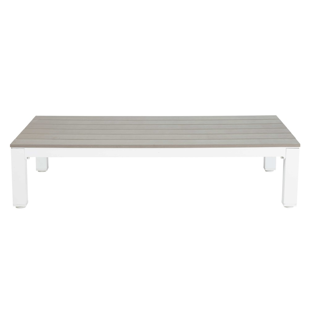 Table basse de jardin en aluminium et composite Escale