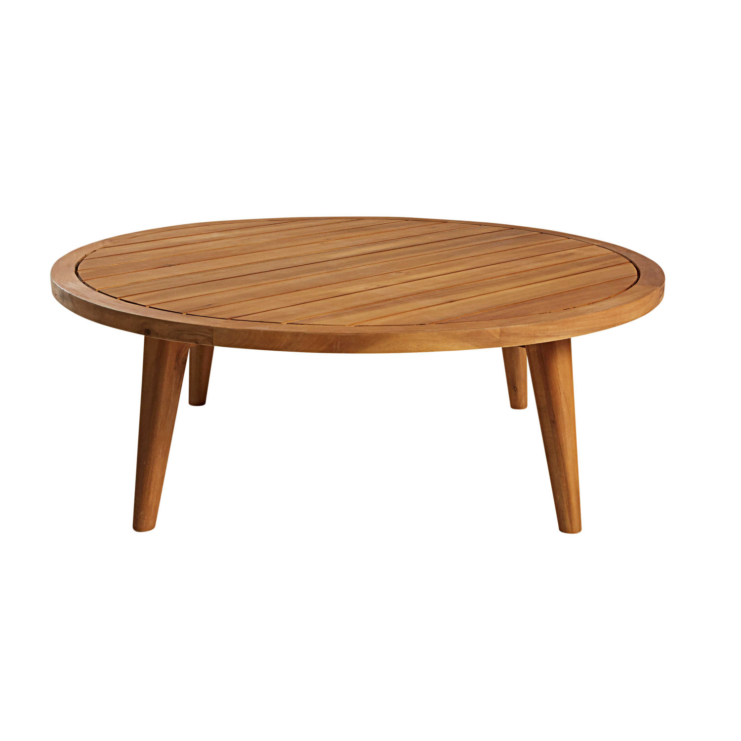 Table basse de jardin ronde en acacia massif maisons du monde for Table basse acacia massif