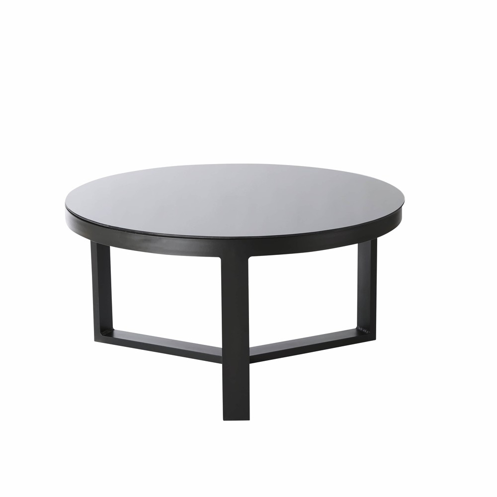 emejing table de jardin ronde noire images amazing house design. Black Bedroom Furniture Sets. Home Design Ideas