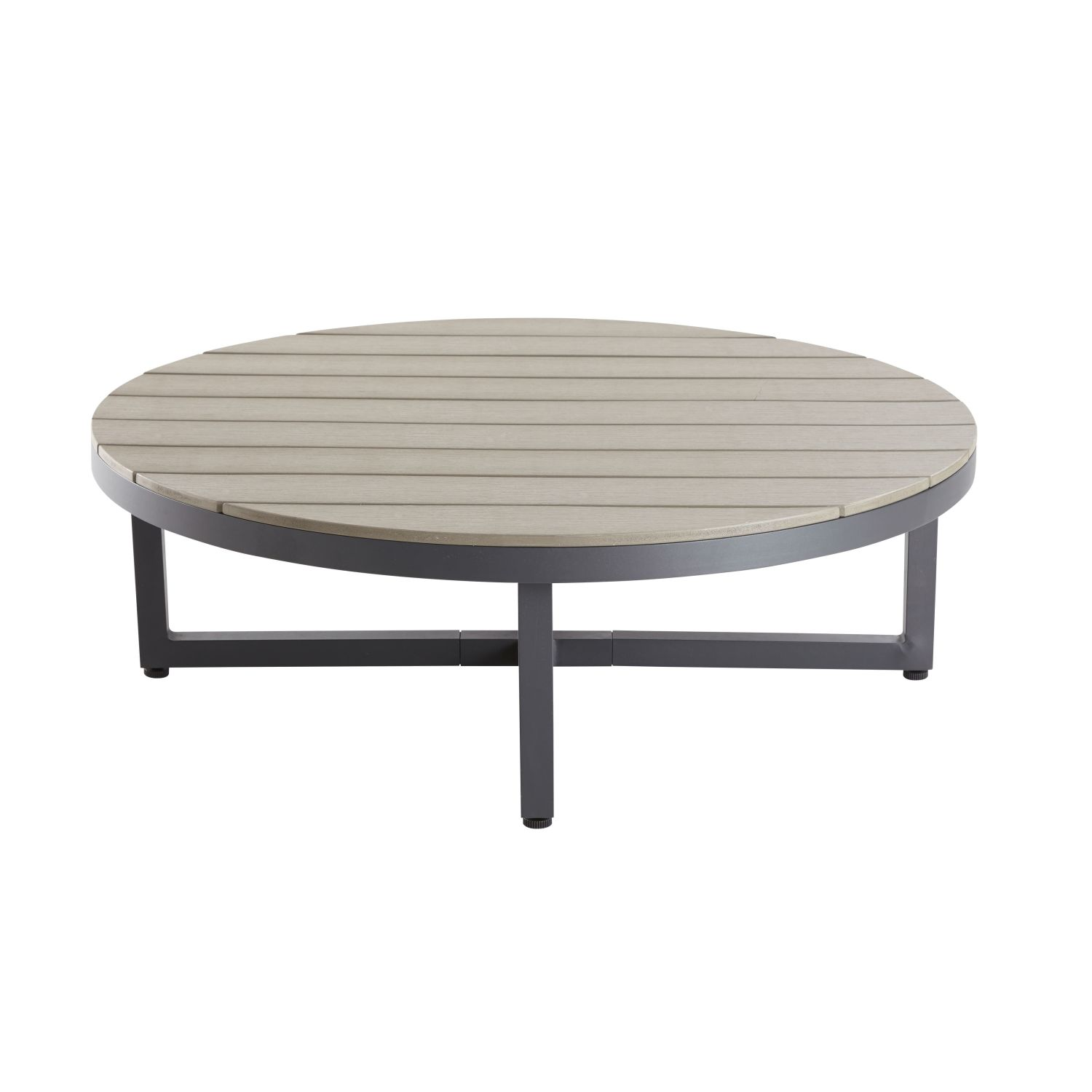 table basse de jardin ronde en composite et aluminium maisons du monde. Black Bedroom Furniture Sets. Home Design Ideas