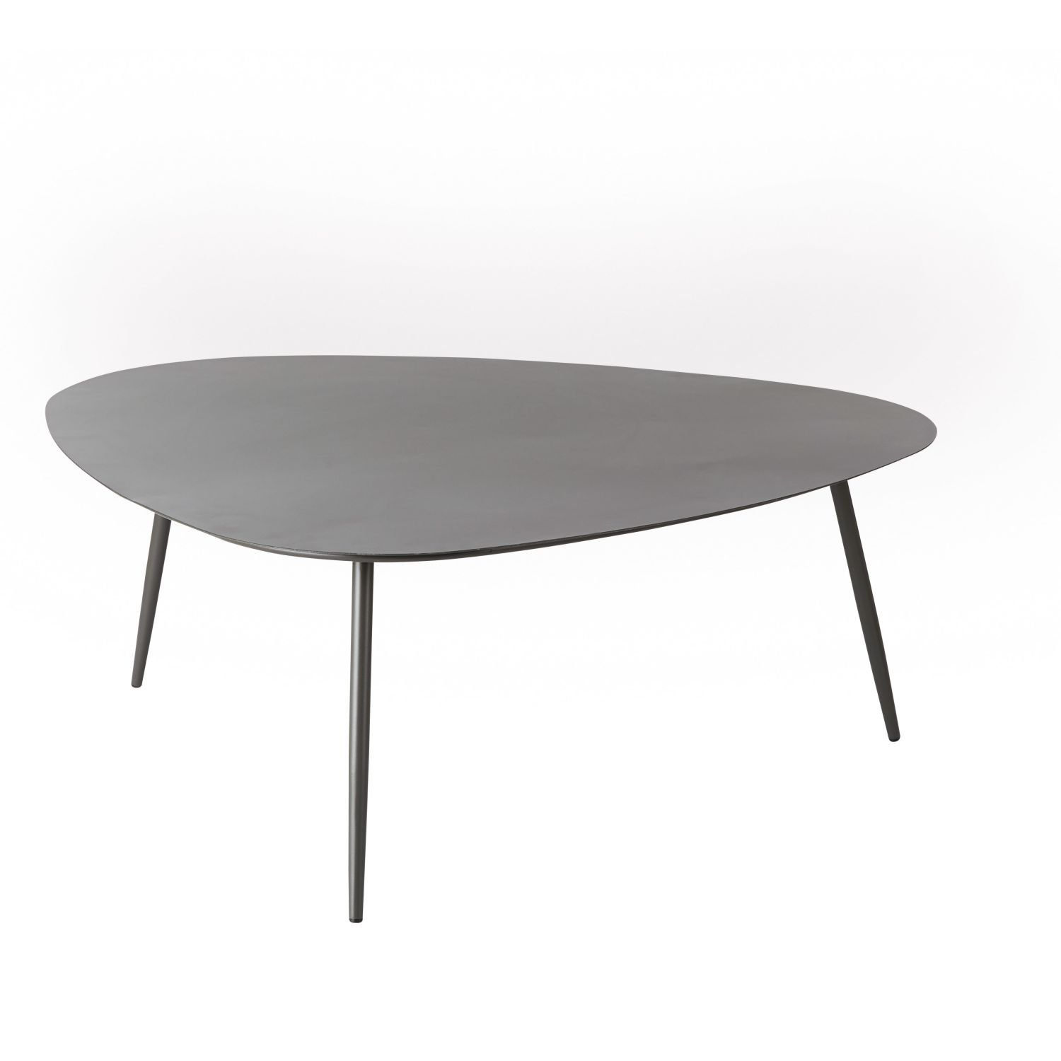 Table basse de jardin vintage en m tal gris anthracite maisons du monde - Table basse jardin metal ...