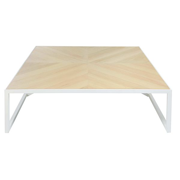 Table basse ch ne m tal for Table basse chene metal