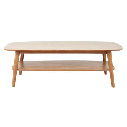 Table basse en ch ne massif l 130 cm portobello maisons for Table basse chene massif