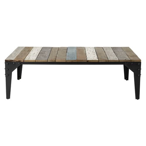 table basse en manguier et m tal l 130 cm sailor maisons du monde. Black Bedroom Furniture Sets. Home Design Ideas