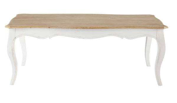 Table basse en manguier massif blanc Versailles