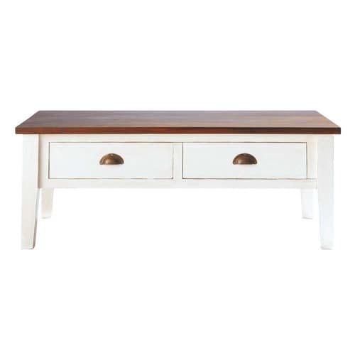 Table basse en manguier massif l 120 cm brocante maisons du monde - Table basse du bout du monde ...