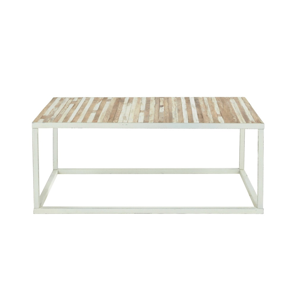 Table basse en métal blanc Mistral