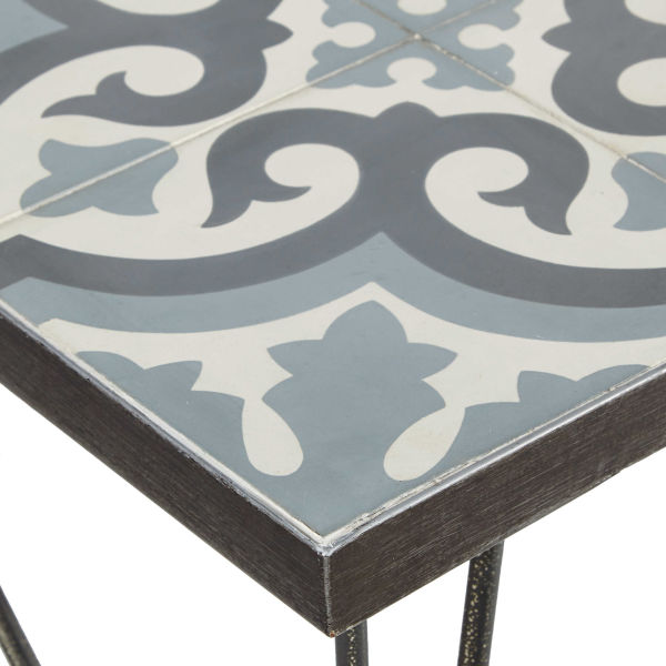 table basse avec carreaux de ciment. Black Bedroom Furniture Sets. Home Design Ideas