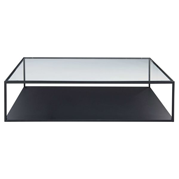 Table basse noir verre - Table basse en verre trempe noir ...
