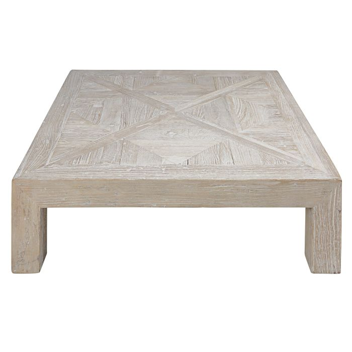 Table Basse En Orme Massif Recycle Blanchi Bruges Maisons Du Monde