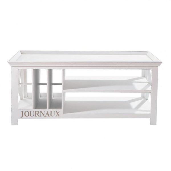 Table basse en pin blanc L 108 cm Newport