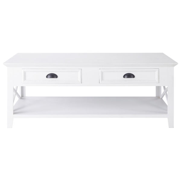 Table basse en pin blanc L 120 cm Newport