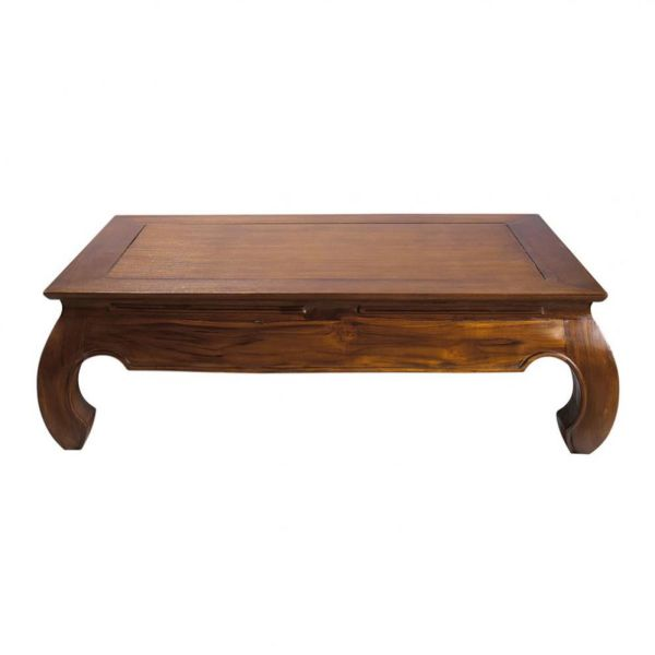 Table basse en teck massif L 122 cm Opium