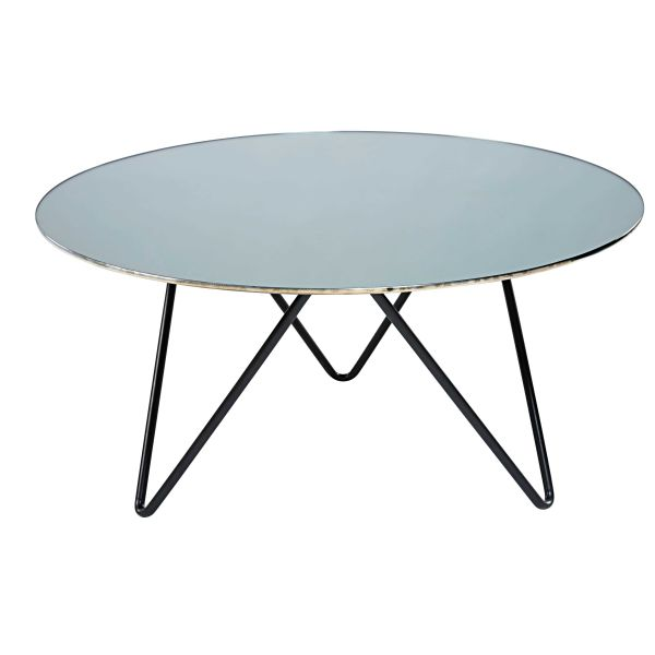 Table basse verre tremp for Table basse en verre noir