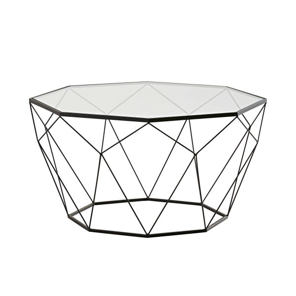 Table basse verre tremp - Table basse verre trempe noir ...