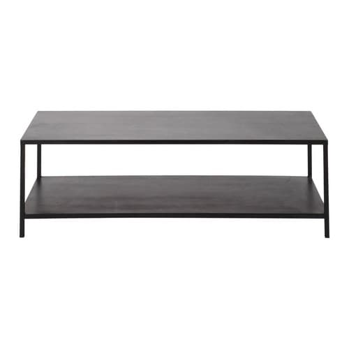 table basse indus noire edison maisons du monde. Black Bedroom Furniture Sets. Home Design Ideas