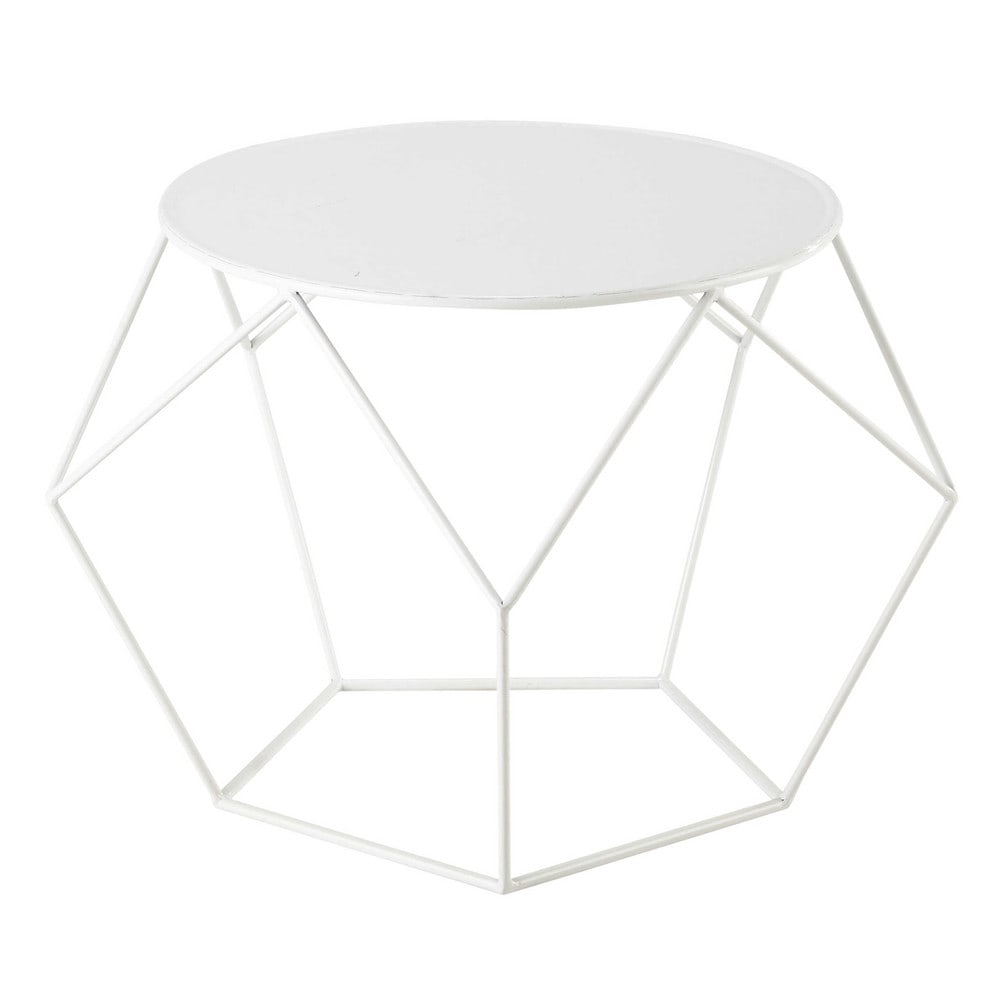 Table Salon Ronde Blanche table basse ronde blanche