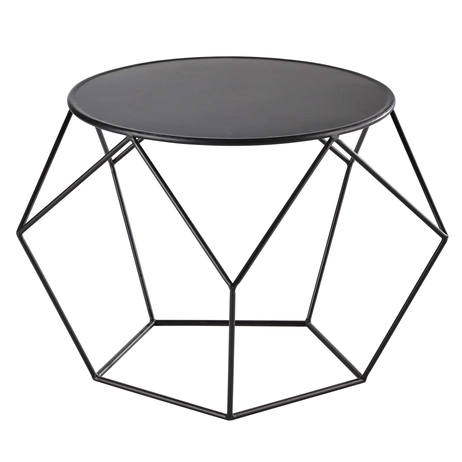 table basse ronde en m tal noir maisons du monde. Black Bedroom Furniture Sets. Home Design Ideas