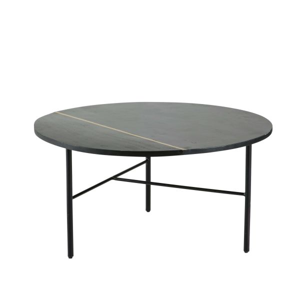 Table ronde noir - Table basse ronde noire ...