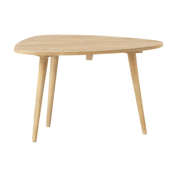 Table basse vintage en manguier massif L 62 cm Trocadero