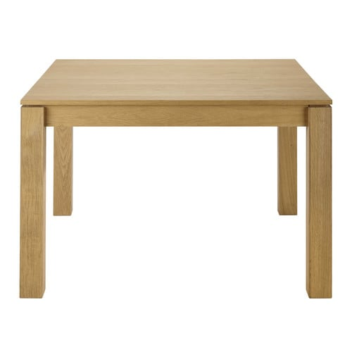 Table carr e de salle manger rallonge en ch ne massif for Table carree 120 cm