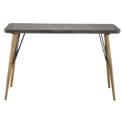 table console en bois grise l 120 cm cleveland maisons du monde. Black Bedroom Furniture Sets. Home Design Ideas