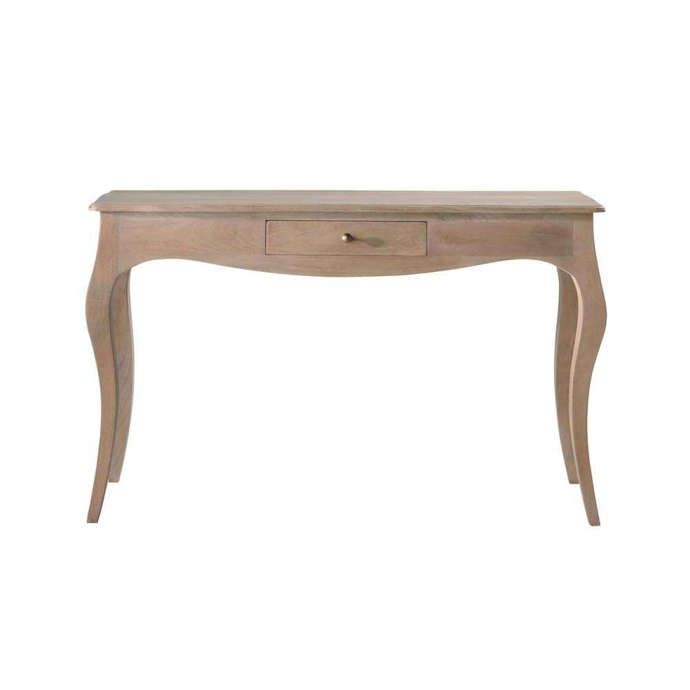Table console en manguier et acacia Colette (photo)