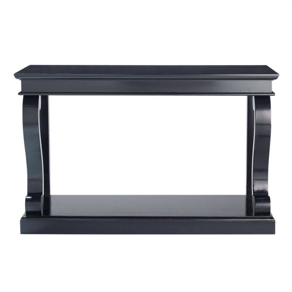 table console en pin massif noire maisons du monde. Black Bedroom Furniture Sets. Home Design Ideas