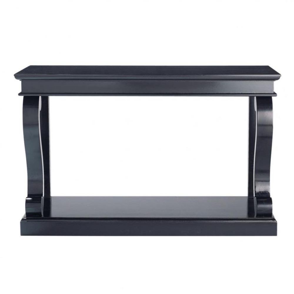 Table console en pin massif noire Octavia (photo)