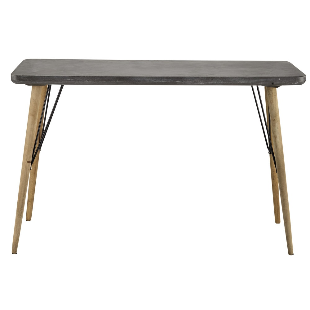 Table console grise Cleveland (photo)