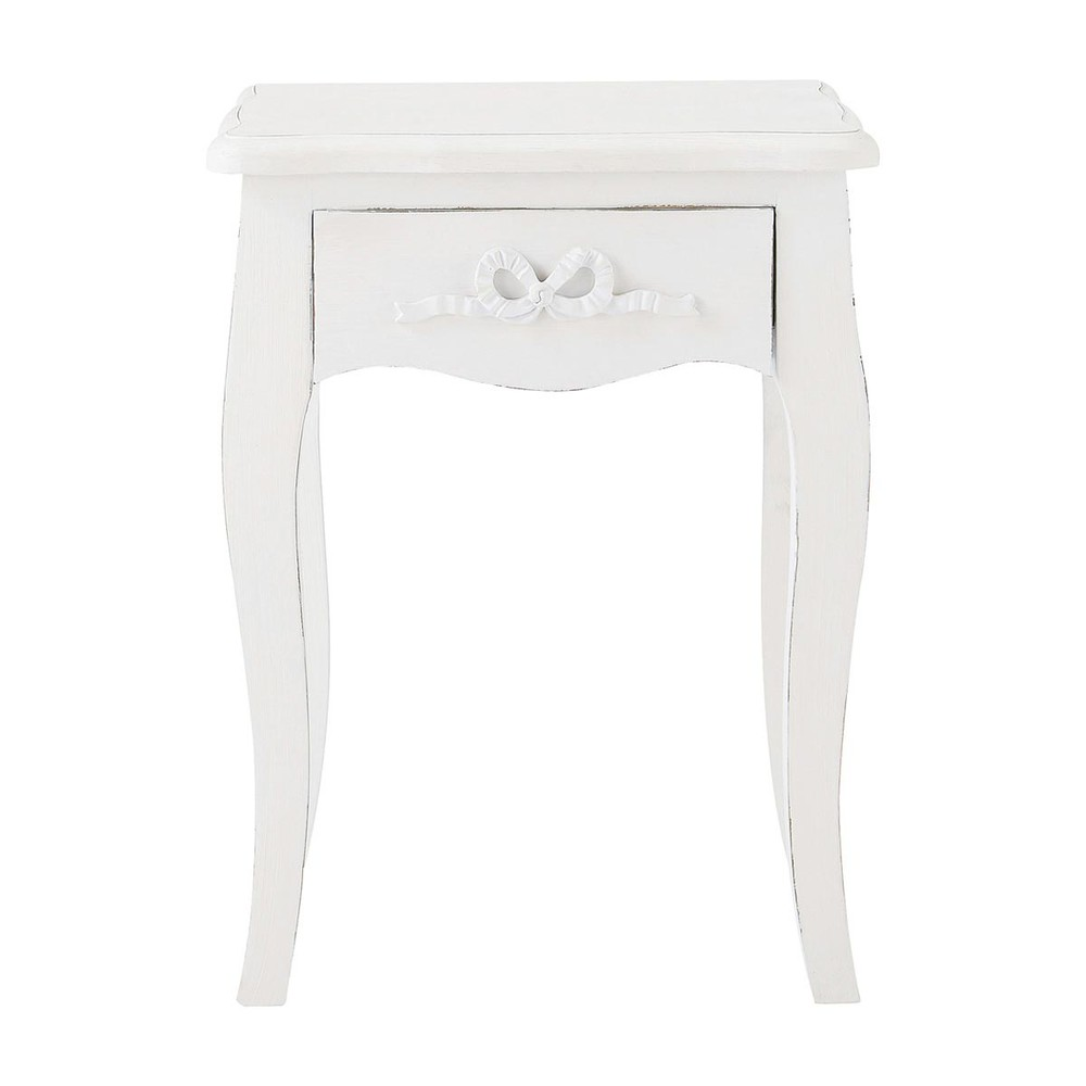 table de chevet bois blanc