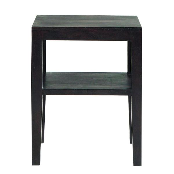 Table de chevet en acacia massif wengé L 45 cm Goa