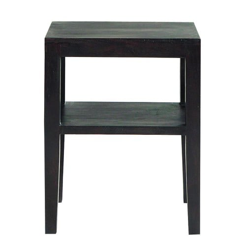 Table de chevet en acacia massif weng l 45 cm goa for Table de nuit wenge