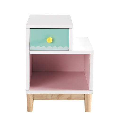 Table de chevet enfant en bois rose l 40 cm berlingot for Table de chevet campagne