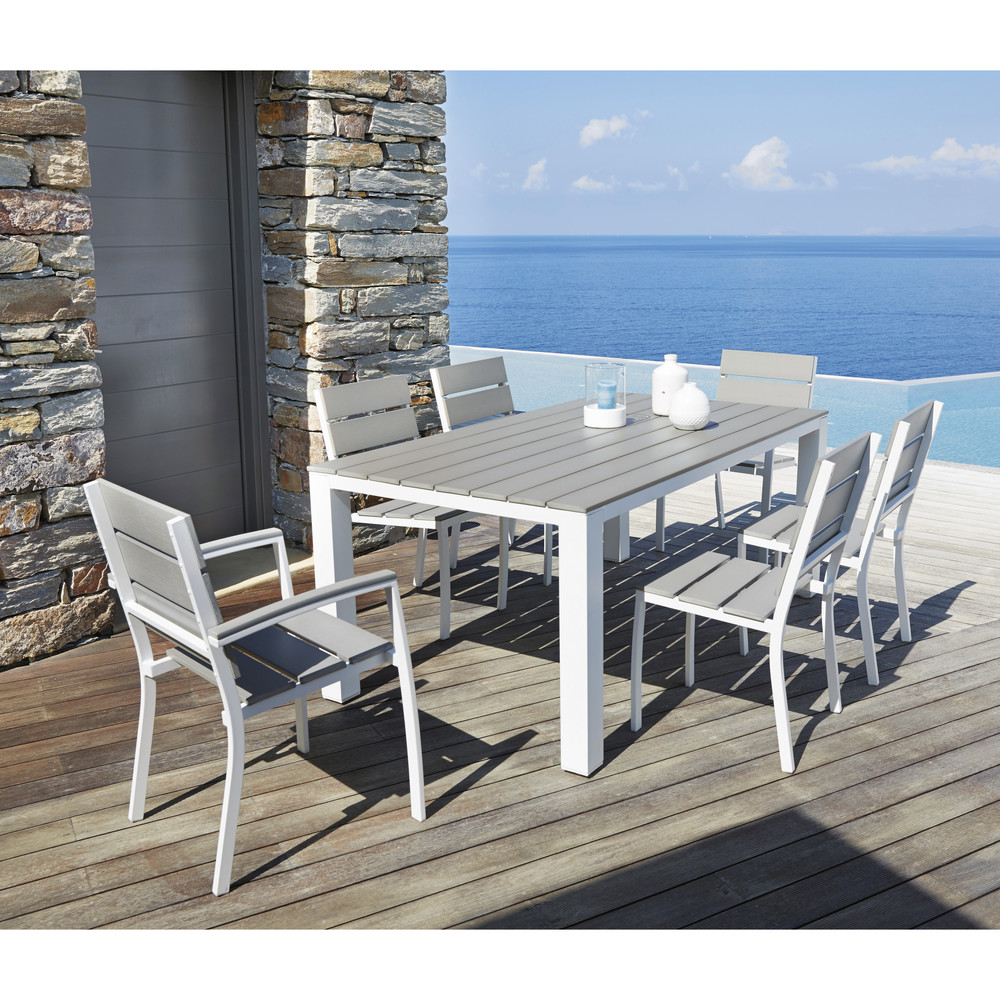 Emejing table de jardin aluminium maison du monde pictures awesome interior home satellite - Maison du monde salon de jardin ...