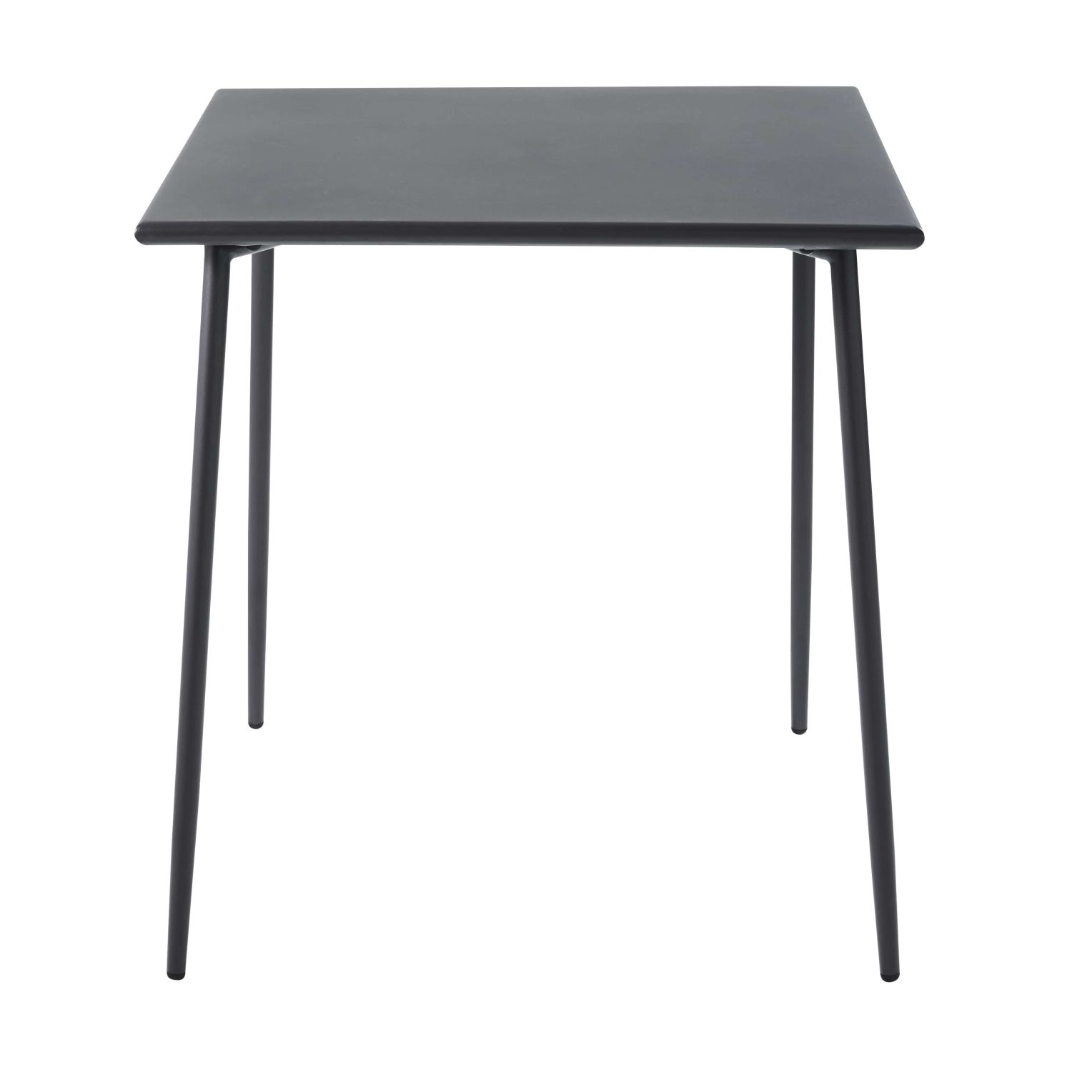 table de jardin carr e en m tal gris anthracite l70. Black Bedroom Furniture Sets. Home Design Ideas