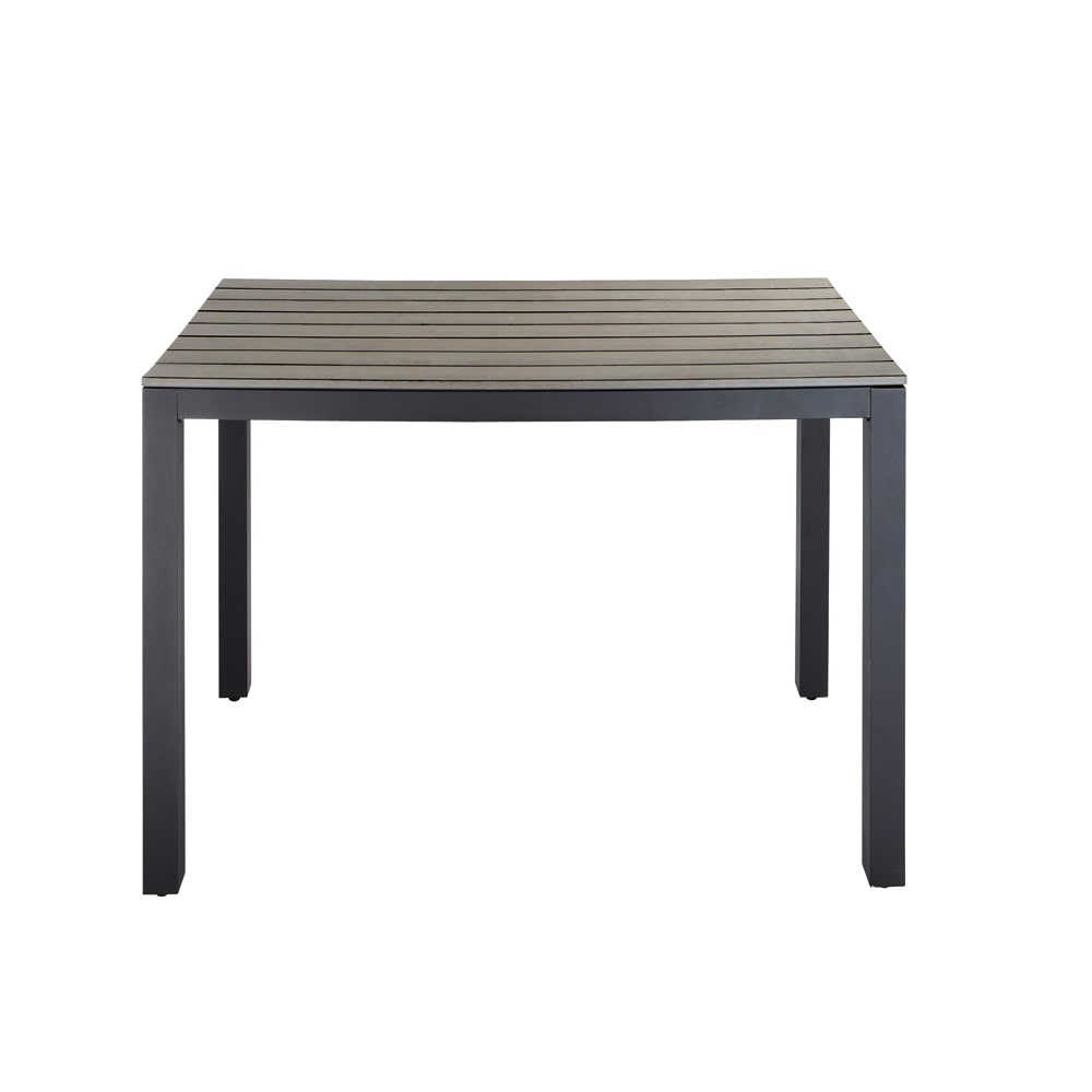 Table de jardin en aluminium gris anthracite L104 Escale