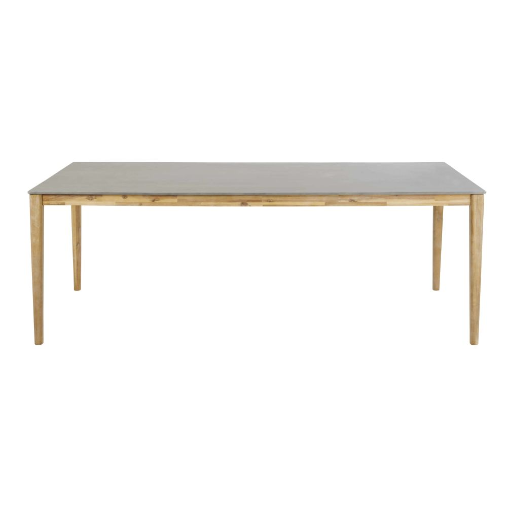 Table de jardin en ciment 8/10 personnes L220 Bergamote