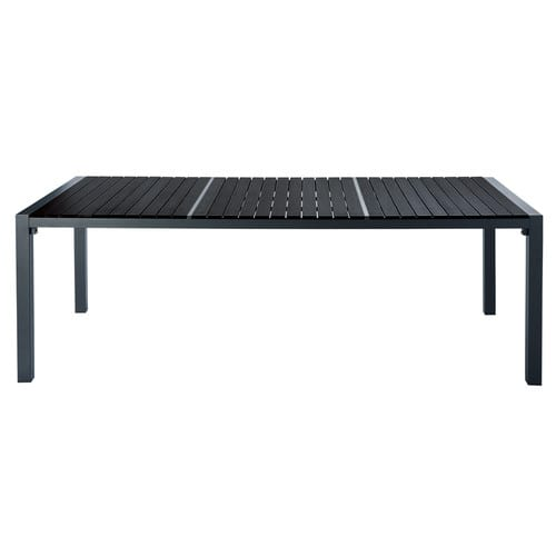 table de jardin en composite et aluminium noire l 230 cm stromboli maisons du monde. Black Bedroom Furniture Sets. Home Design Ideas