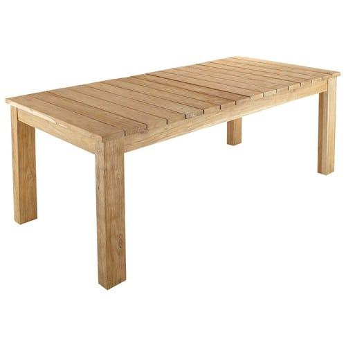 Table de jardin en teck recycl l 220 cm guerande - Table en teck recycle ...