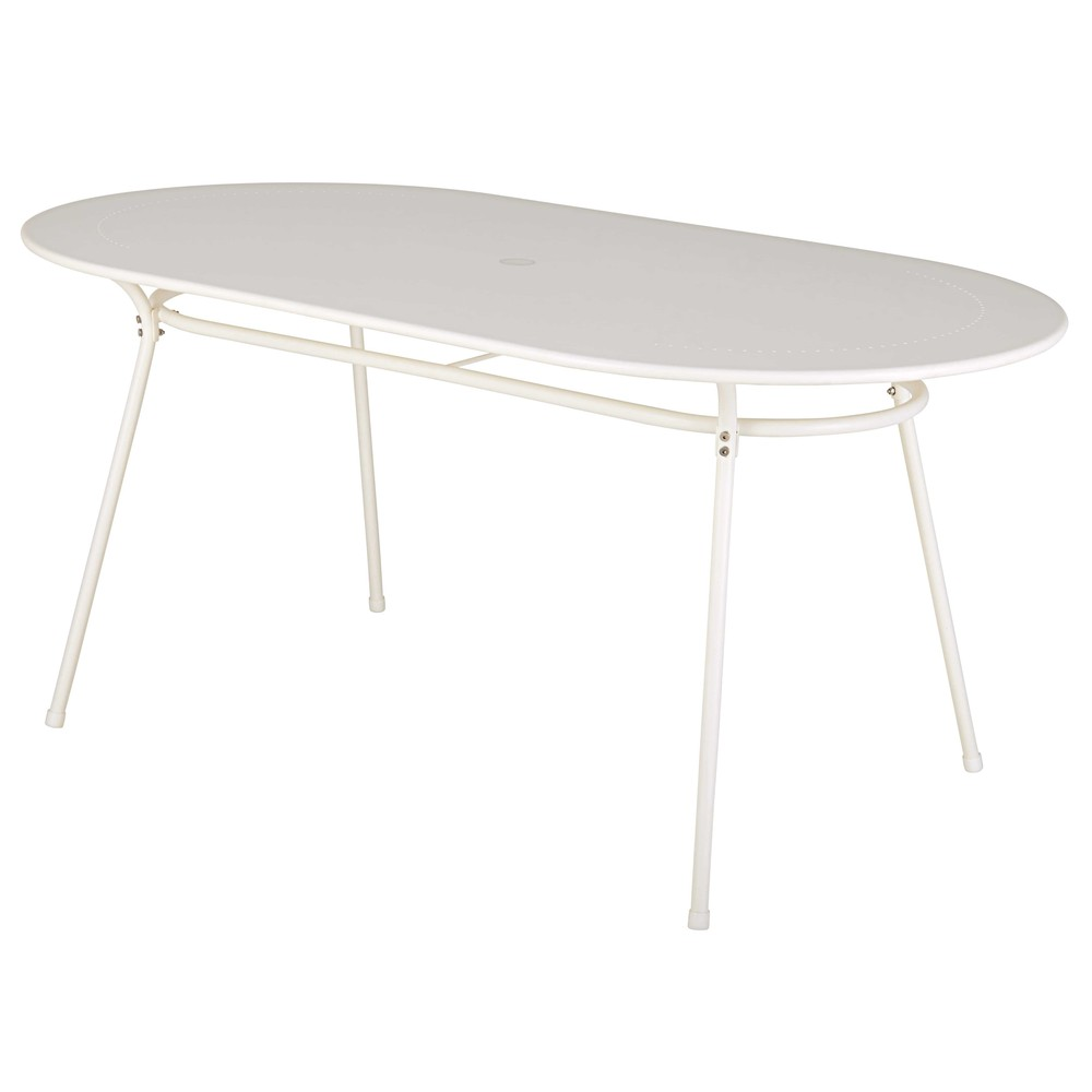 Awesome Table De Jardin Ovale Blanche Pictures - Amazing House ...