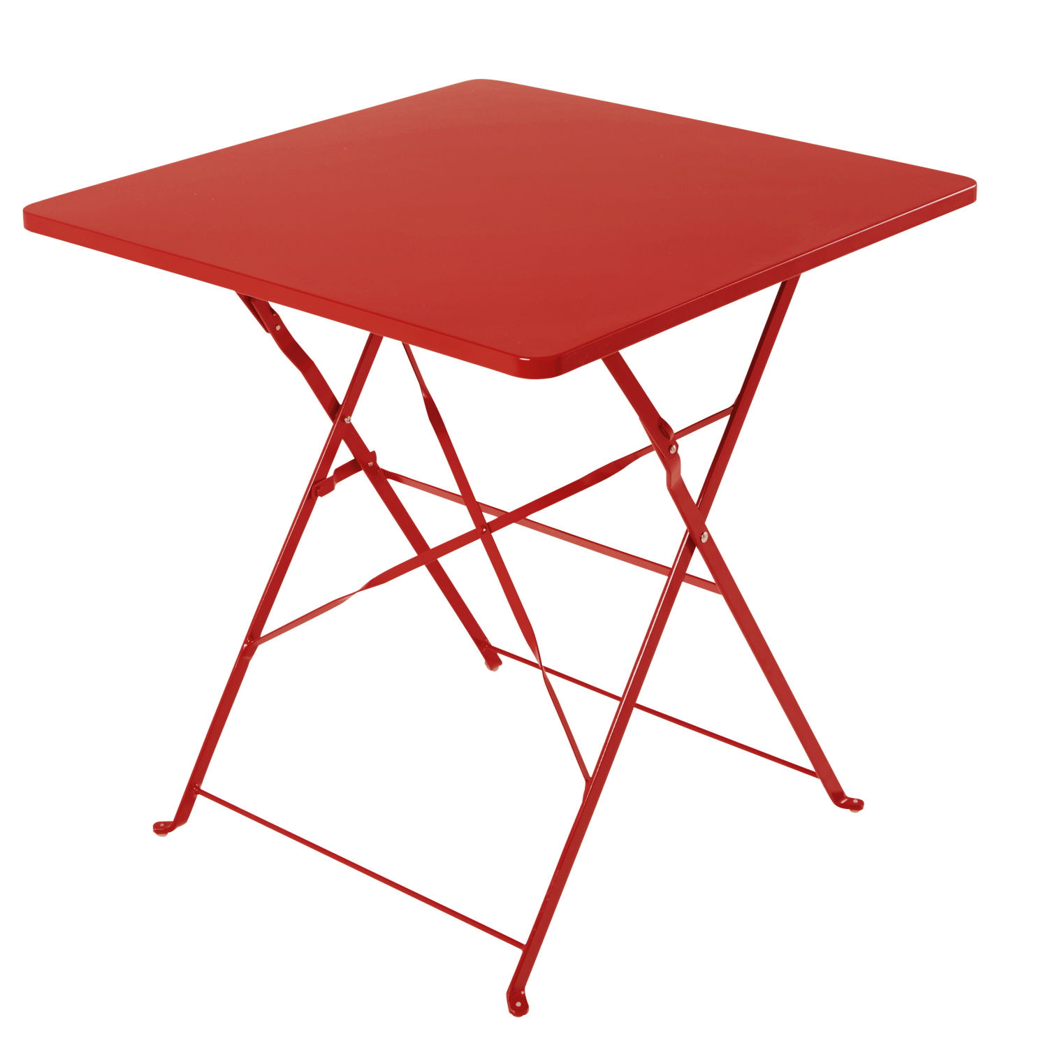 table de jardin pliante en m tal rouge 2 personnes l70 maisons du monde. Black Bedroom Furniture Sets. Home Design Ideas