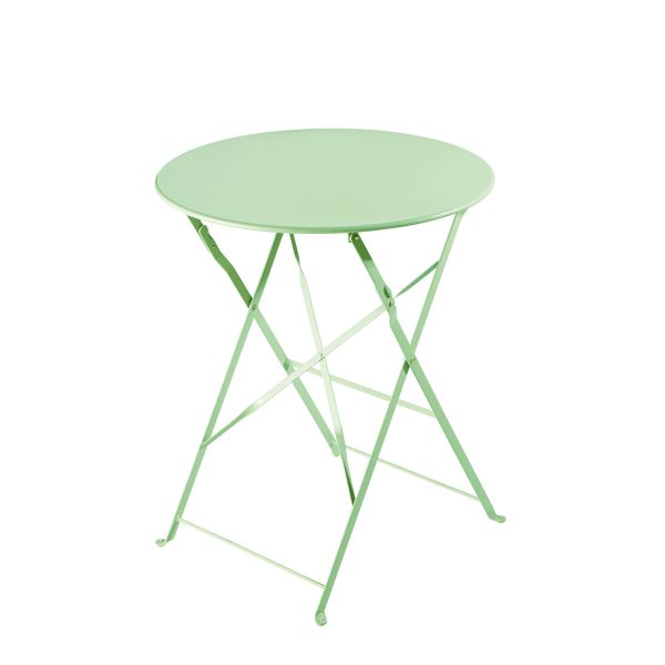 table de jardin pliante en m tal vert d 39 eau d58 confetti. Black Bedroom Furniture Sets. Home Design Ideas