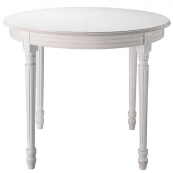 Table de salle manger table basse rallonges table en for Table ronde rallonge blanche