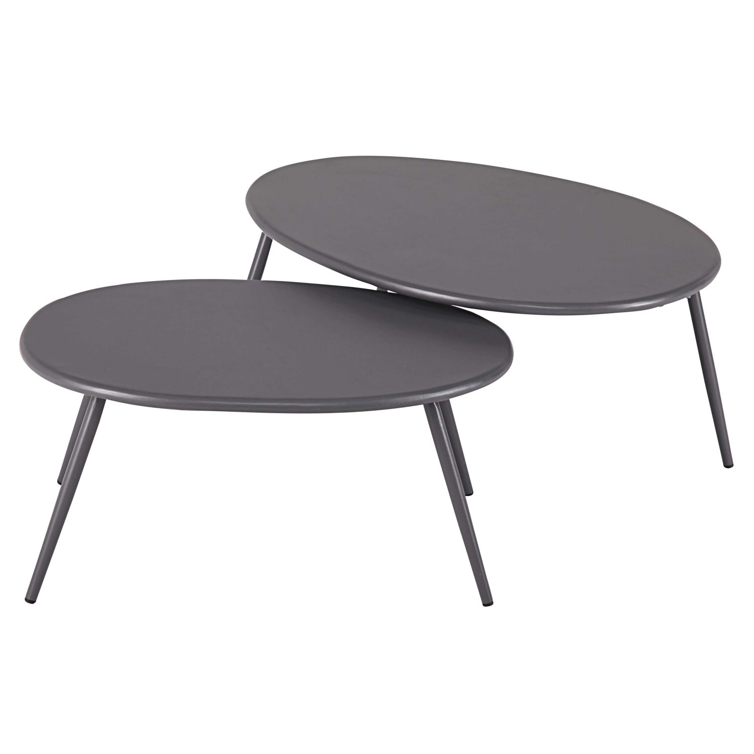 tables gigognes de jardin en m tal gris maisons du monde. Black Bedroom Furniture Sets. Home Design Ideas