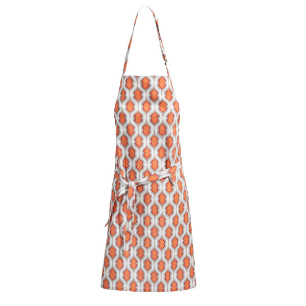 Tablier en coton orange THELMA