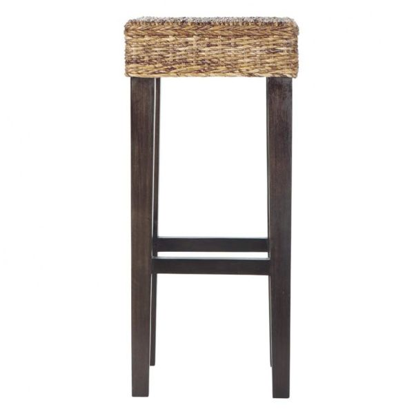 Tabouret de bar en abaca et mahogany massif Rangoon (photo)